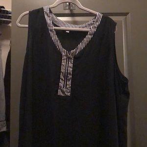 Black camisole with silver zipper